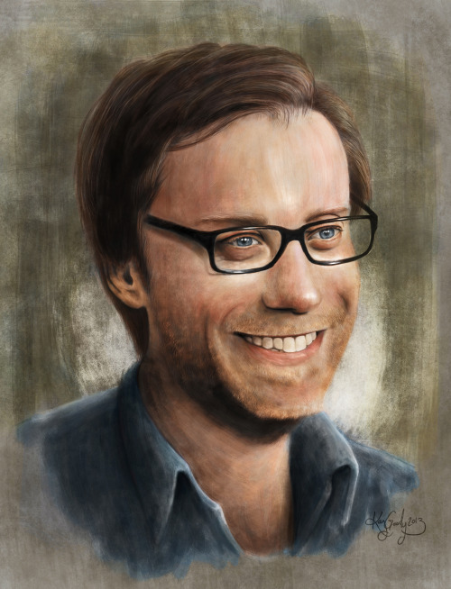 kaygoody:  That big, lanky, goggle-eyed freak, Stephen Merchant. www.kaygoody.deviantart.com