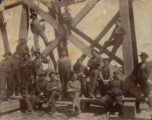 1bohemian:   Work Crew Posing On The Canadian Pacific Railway High Level Bridge by Galt Museum & Archives on The Commons.