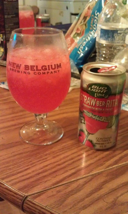 Canned margarita in a chalice, nothin but class