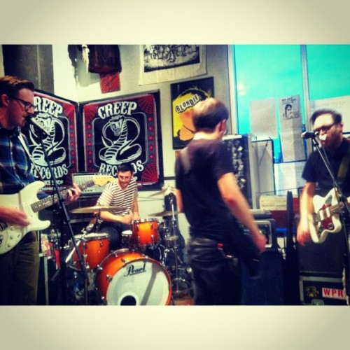 modernlifeisraw:   By Surprise at #katkatrecords #recordstoreday celebration (at Creep Records)   By Surprise at the Kat Kat Records Record Store Day 2013 showcase.
