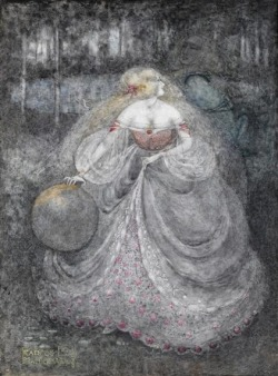 hoodoothatvoodoo:  Frances MacDonald MacNair 'The Frog Prince' 1898