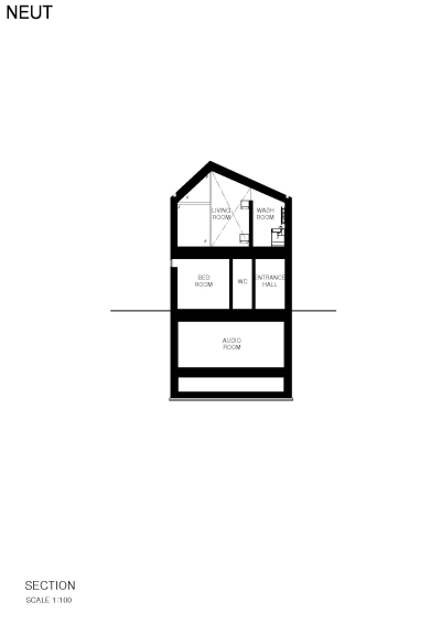 Section Neut HouseApollo Architects Tokyo