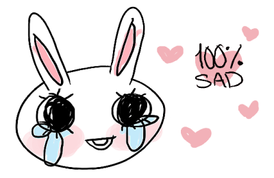 sad bunny badge for your blog ♡