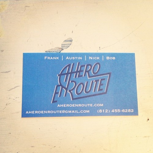 Check out our new A Hero en Route business cards!  (at Nashville, TN)