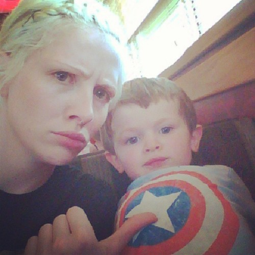 Just hanging out with captain America!!