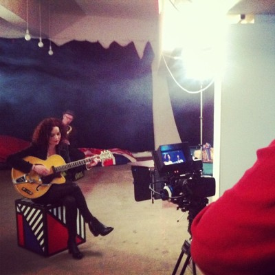 Shooting Georgie Fisher's vintage look music video this morning. A pleasure to work with and a beautiful voice!!