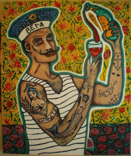 """ Odessa Sailor ""  ….  Artist:  Paul Hitter  More:  http://www.facebook.com/pages/The-One-And-Only-Paul-Hitter-Balkan-Expressionism/310663711720?hc_location=timeline"