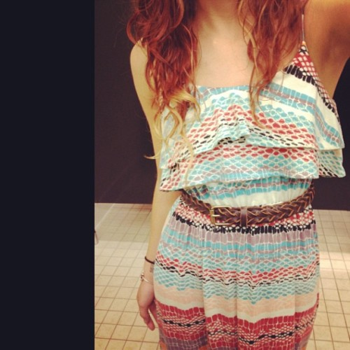 Here's an #ootd for you guys #me #long #dress #curly #hair #print
