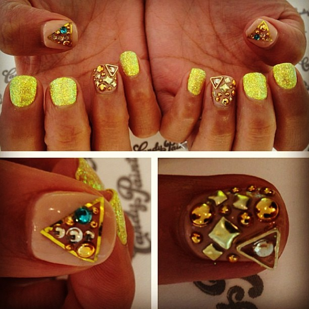 Love.these.nails. Done at @candypaintla #nailart #naildesign #candypaintla  (at Candy Paint Nail Studio)