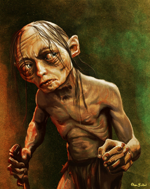 assorted-goodness:  Gollum - by Okan Bulbul