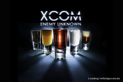 XCOM Enemy Unknown Shot Set Sniper ClassIngredients:12.5ml Pernod12.5ml Kahlua (or simply black coffee)Directions: Pour the Kahlua into the shot glass first, then layer the Pernod on top. This shot represents the Sniper's Squad Sight skill.—-  Assault ClassIngredients:10 ml Vanilla Vodka10 ml Citron Vodka5 ml Overproof RumCrushed IceDirections: Mix all three ingredients together in a shot glass with a bit of crushed ice, to symbolize shotgun spray. —-  Heavy ClassIngredients:5 ml Cream/Milk10 ml Creme de fraise10 ml Cherry sambucaDirections: For your laser upgrade, mix the creme de fraise and cherry sambuca in a shot glass. Add a bit of milk or cream to make this shot, well, heavier.—-  PsionicIngredients:10 ml Sparkling wine15 ml La Fee clear absintheDirections: Mix both clear ingredients into a shot glass. This concoction is sure to psyche out friends and enemies alike.—-  Medic ClassIngredients:10 ml Passion Fruit Syrup10 ml Orange Juice5 ml Cranberry JuiceDirections: Mix all ingredients in a shot glass. This non-toxic mixture is sure to heal you!—- Drink created by James Dance of Loading. Photography by Will Edgecombe. You can find the rest of the drinks made by James on The Guardian.
