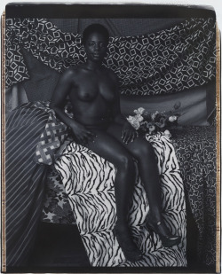 paddle8:  Mickalene Thomas, Portrait of Marie Sitting in Black and White, 2012