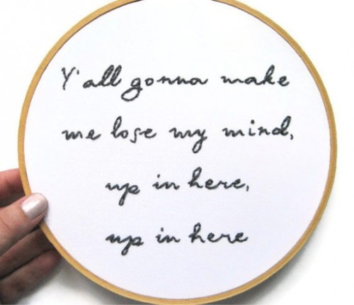 ITEM OF THE DAY: DMX HAND EMBROIDERY HOOP ARTby Heather Taylor http://bit.ly/Xq88WY
