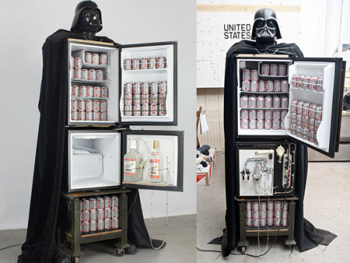 geekmythology:  Darth Vader Beer Fridge and Vodka Fountain - News - GeekTyrant
