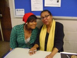Me with bell hooks!!!! (circa 2009) probably one of the best days of my life.
