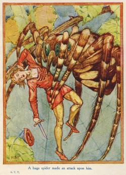 studyincontrasts:  H. Granville Fell ~ A Huge Spider ~Sir Thomas Thumb~ 1907