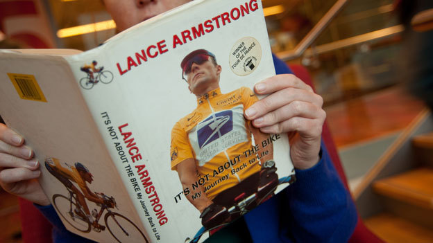 "Should buyers of Lance Armstrong's books get a refund? Two Californians have filed a class-action lawsuit against the cyclist and his publishers Penguin and Random House - on behalf of themselves and other residents of California who bought the books - demanding refunds and other costs.Political consultant Rob Stutzman and chef Jonathan Wheeler would not have spent money on the titles, according to their submission, had they known ""the true facts concerning Armstrong's misconduct and his admitted involvement in a sports doping scandal that has led to his recent and ignominious public exposure"". In both books, Armstrong is emphatic that the drug charges against him are false. From HERE"