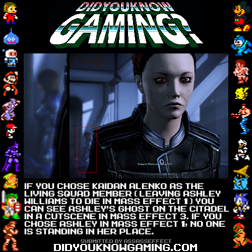 didyouknowgaming:  Mass Effect 3.