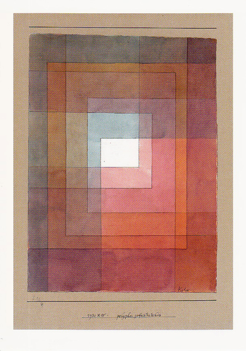 likeafieldmouse:  Paul Klee - Polyphonic Setting for White (1930)
