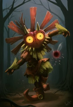 albieisartsy:  Daily Deviation 11.31.2012 Skull Kid by ~Golden-Whale