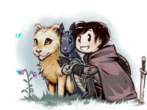 A Boy and his Chimera Another Dragon's Dogma fanart, inspired by the cute little short story by the Ask the Seneschal blog :)  (If you're a fan, I highly recommend reading the archives!) I love Chimeras!  Savan's pretty cute too, I guess.  Ah, but if Barnaby wasn't such an emotionless husk, that would be quite the competition.  Now there's a soul that would fiercely quest to see the betterment of all Pawns in Gransys.