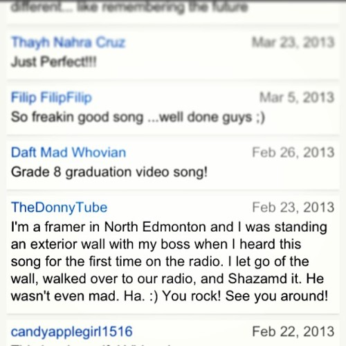 This lil comment on our YouTube is one of the reasons we continue to make music :) #bigannounce mentssoon #thisiszerbin