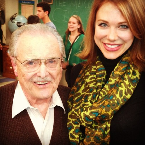 MR. FEENY AND RACHEL ON THE SET OF GIRL MEETS WORLD!!!