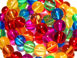 Rainbow beads | Flickr - Photo Sharing! on We Heart It - http://weheartit.com/entry/4302310/via/mirriikka   Hearted from: http://www.flickr.com/photos/98662646@N00/236184995/