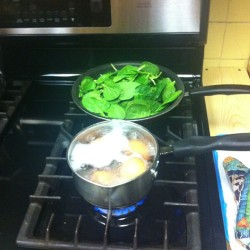 Clean food prep for the week. Hard boiled eggs, sautéed spinach, and quinoa.  #cleaneating #cleanfood #food #eating #foodprep #hardybody #bikinireadyyearround