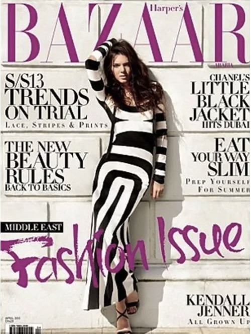 Check out Kendall Jenner on the cover and featured in the latest issue of Harper's Bazaar Arabia! The up-and-coming model/Kardashian also talks about her weight. Click the pic for more photos and the full story!