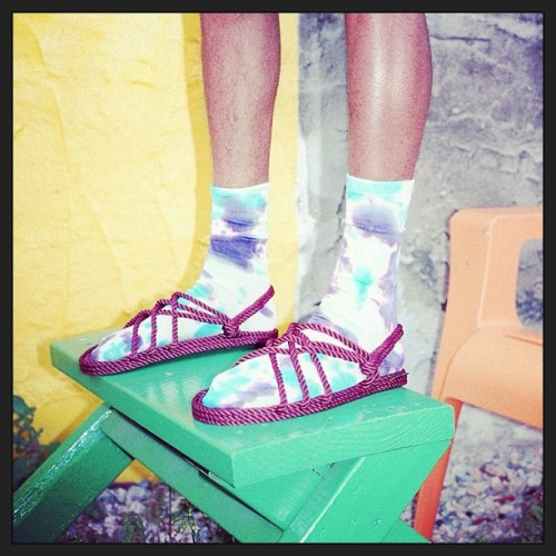 #tiedye #socks and #rope #jesussandals. Perfect combo!