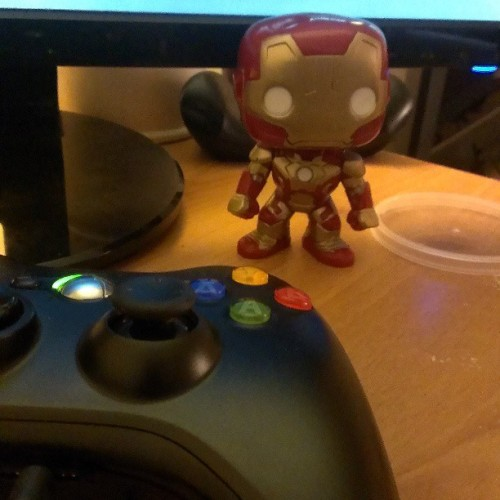 My new xbox buddy  :-) #ironman #Bobblehead #birthdaygift