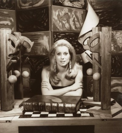 themoleskiner:  Catherine Deneuve, 1968 © Man Ray.