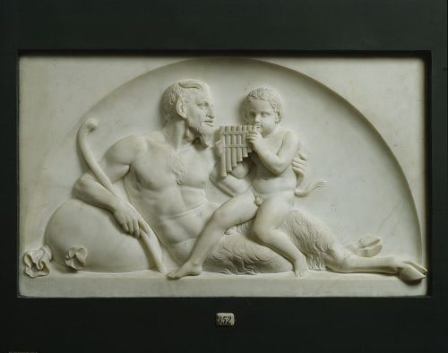Pan and a Satyr by Bertel Thorvaldsen HOMO MAGAZINE: FOLLOW US ON FACEBOOK & TWITTER