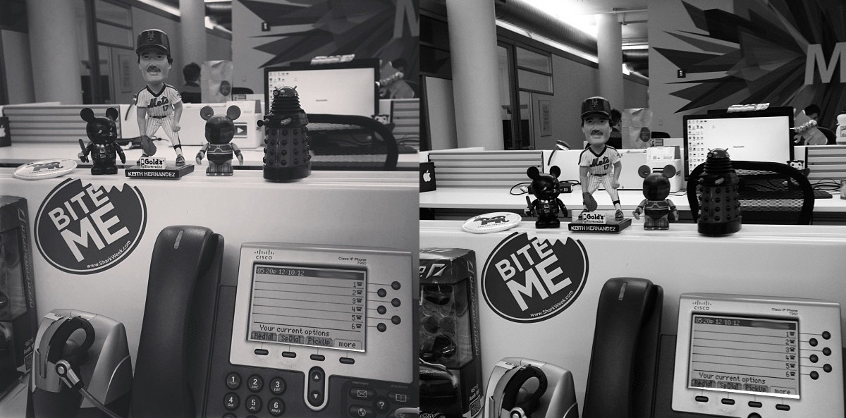 Side-by-side comparison of Instagram's B&W filters. New one, Willow, on the left.