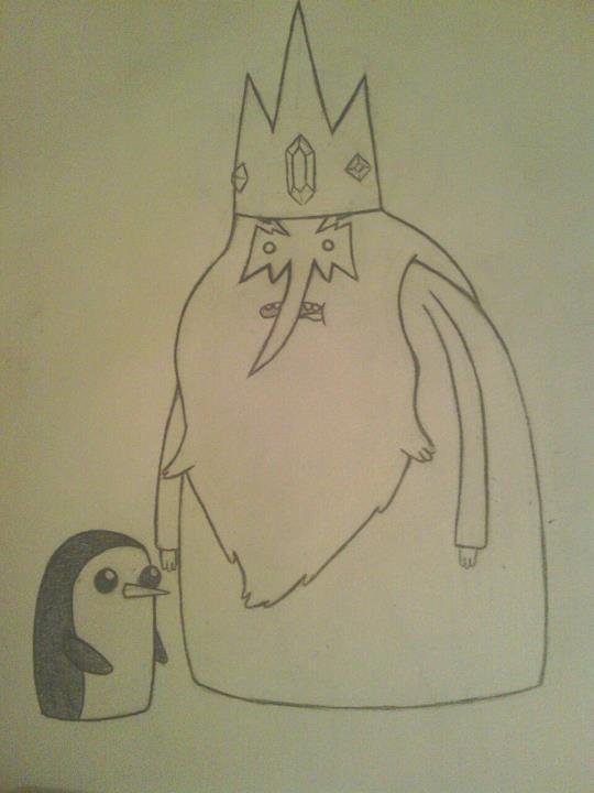 Working on my adventure time drawings, trying to get good at it. :P