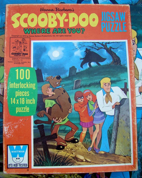 Scooby-Doo Where Are You? Jigsaw Puzzle (1969) [via Waffyjon/flickr]