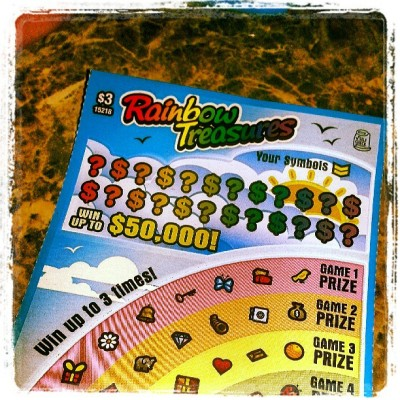 Gay lotto…. hope I find the pot of glitter at the end of this rainbow hehe