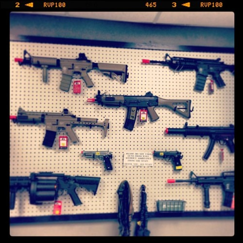 Day 10: gun wall stocked! Ready for an epic Airsoft weekend! #project365