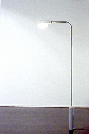 David Shrigley LAMP POST 1999 Steel, enamel paint, electrical light