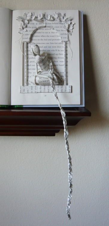 Rapunzel Book Sculpture