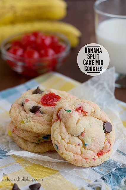 gastrogirl:  banana split cake mix cookies.