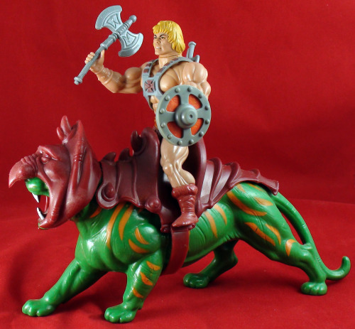 1982 He-Man and Battle Cat.