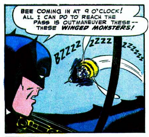 (via Atomic Surgery: The Valley of The Giant Bees! (Batman #84, 1954))