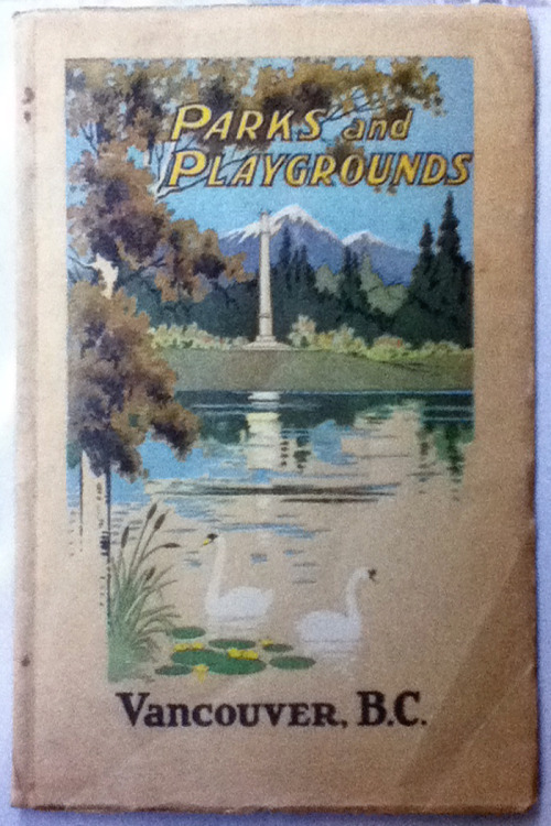 "Parks & Playgrounds, Vancouver BC brochure, dated 1925, seen at MacLeod's Books recently. This cover depicts a proposed monument (I can't recall if it was a column or an obelisk, sorry) at the end of the causeway entrance to Stanley Park, seen here overlooking Lost Lagoon. When the causeway was completed, they didn't end up with a stone monument but erected a flagpole instead. A reminder; TODAY there is a Walk in the Forest event at VanDusen Gardens. Come down from 12-2pm for a little art mob excursion! The 1976 modernist pavilion originally known as MacMillan-Bloedel Place is facing demolition, and Michael Kluckner, with support from Heritage Vancouver, would like to see it preserved.   The building known as the Education Centre (also the Forest Education Centre) is a modernist masterpiece lost in the forest of an untended section of VanDusen Garden. Built in 1976, it was originally known as MacMillan-Bloedel Place, named for its donor, the largest forestry company in what was then the largest industry in British Columbia. Its unique educational displays, including a 50-seat theatre, were called ""A Walk in the Forest.""Architect Paul Merrick, working then as chief designer for Thompson, Berwick & Pratt, set the pavilion into a small hill on the edge of a lake in the northwest part of the gardens. Its green roof was one of the first in the city, and its unique internal columns used some of the finest wood in British Columbia. It won the Canadian Architect Yearbook Award of Excellence Award in 1974, and was constructed by Halse-Martin of Vancouver. It was once an object of pride for the city, VanDusen Garden and the Park Board… [read more]  Note this campaign is not endorsed by the Park Board or VanDusen Garden staff."