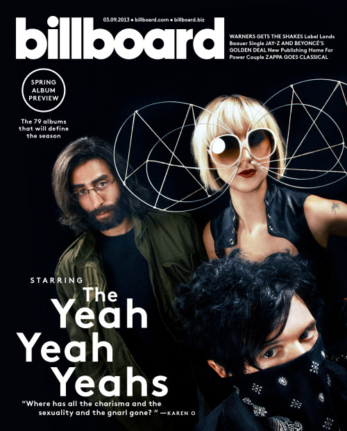 Get a first look at our latest cover, featuring the Yeah Yeah Yeahs. Click here to buy this issue: http://blbrd.co/XLyIKb