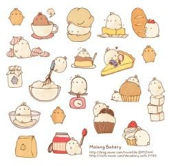 cute korean sweets bakery molang