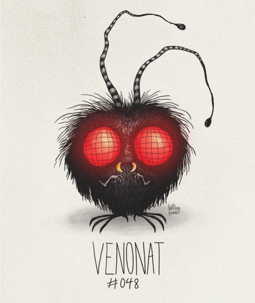 Venonat #048 Part of The Tim Burton x PKMN Project By Vaughn Pinpin