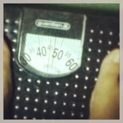 I finally reached my target weight! From 49kg and im down to 45kg! Boom! All the sweats and effort are finally worth it 😂😂