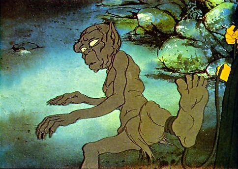 benjgray:  From Ralph Bakshi's Lord Of The Rings cartoon, 1978. He does manage to make the Ringwraiths genuinely unnerving.